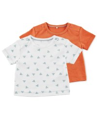 Lily & Dan Orange Baby T-Shirt Pack