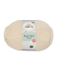 So Crafty Cream Aran Yarn