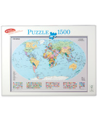 1,000pc Policital World Map Puzzle