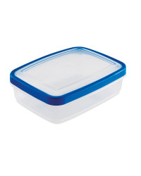 1.3L Rectangle Container - Blue