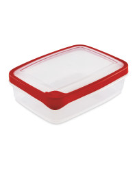 1.3L Rectangle Container - Red