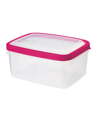 1.3L Rectangle Seal Tight Container - Pink