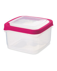 1.4L Square Seal Tight Containers - Pink