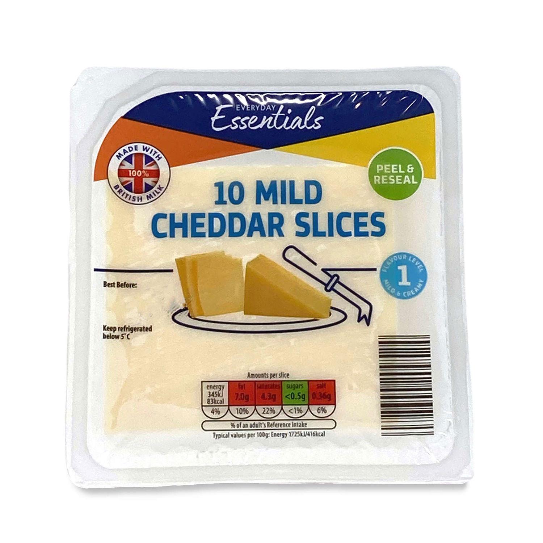 10 Mild Cheddar Slices