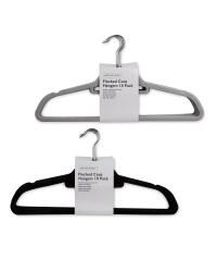 10 Pack Flocked Coat Hangers