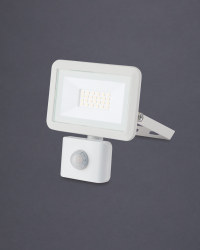 10W LED Floodlight with PIR - White
