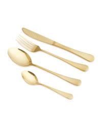 16 Piece Premium Cutlery Set - Shiny Gold