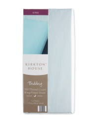 Kirkton House King Fitted Sheet - Blue