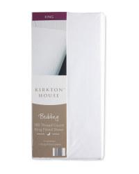 Kirkton House King Fitted Sheet - White
