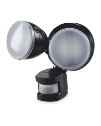 18W Twin PIR Security Light - Black