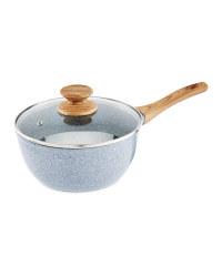 18cm Ceramic Saucepan With Lid - Grey