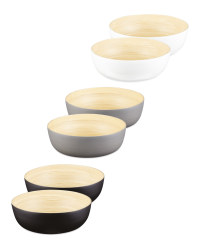 2 Pack Bamboo Bowls