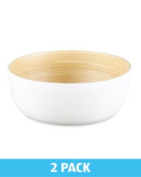 2 Pack Bamboo Bowls - White