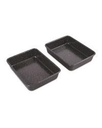 Kirkton House Roasting Tins 2 Pack - Black
