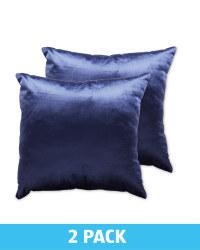 Blue Velvet Cushion 2 Pack