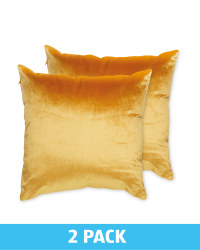 Ochre Velvet Cushion 2 Pack