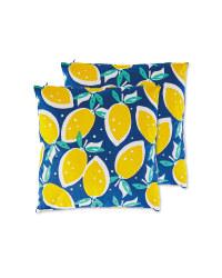 Lemons Garden Cushion 2 Pack