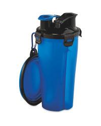 2 In 1 Pet Flask - Blue
