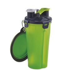 2 In 1 Pet Flask - Green
