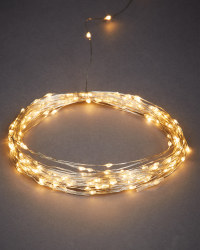 200 Silver Effect Wire Solar Lights