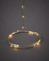 Garden Bright 200 Solar Wire Lights - Silver