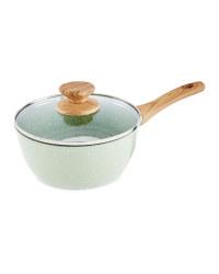 20cm Ceramic Saucepan With Lid - Sage