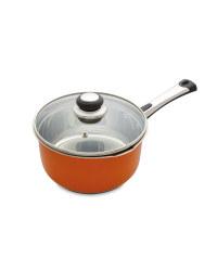 20cm Saucepan & Lid - Orange