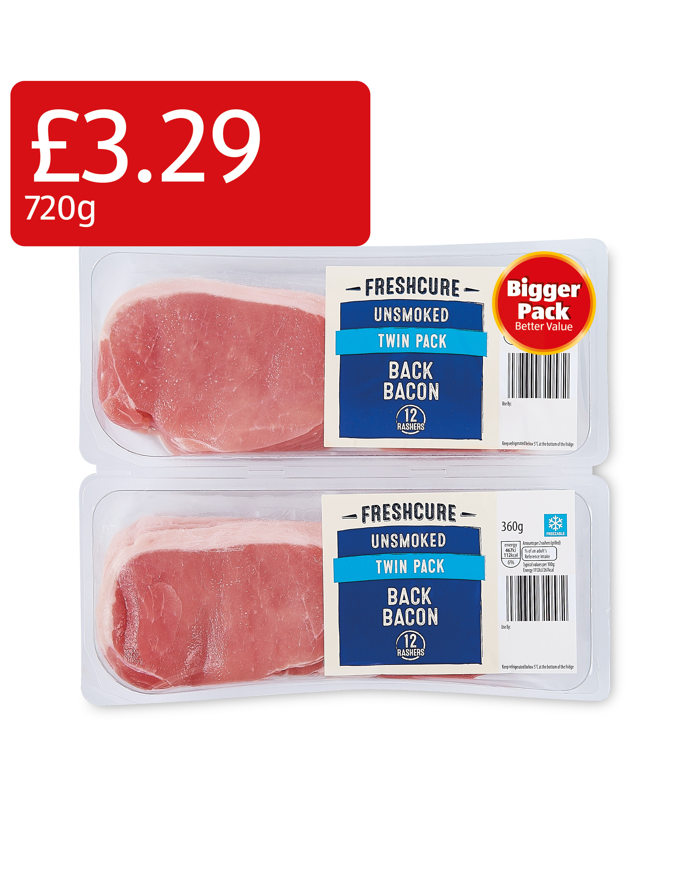 24 Unsmoked Bacon Rashers