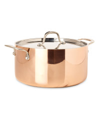 Tri-Ply Copper 24cm Stock Pot & Lid