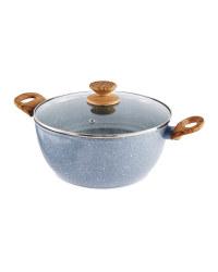 26cm Ceramic Stock Pot - Grey
