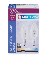 28w Candle SES Eco Halogen Bulbs