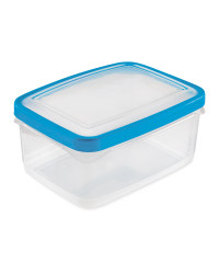 2L Rectangle Seal Tight Containers - Blue