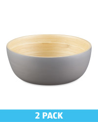 2 Pack Bamboo Bowls - Grey