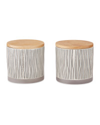 Medium Printed Canisters 2 Pack