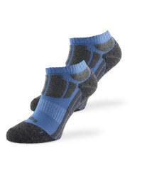 Blue & Grey Sports Socks 2 Pack