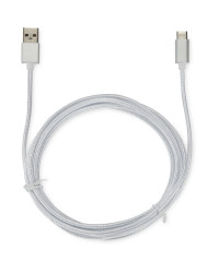 Boost 2m USB Type C Charging Cable - White