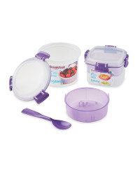 Sistema Breakfast To Go Snack Pots - Purple
