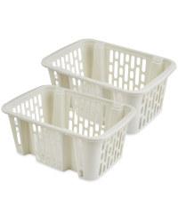 Large Cream Basket 2 Pack