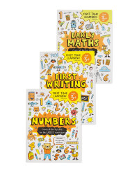 3+ First Time Learning Books 3 Pack