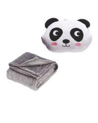 Children's Panda Cushion & Blanket