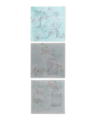 3 Pack Blossom & Bird Canvases