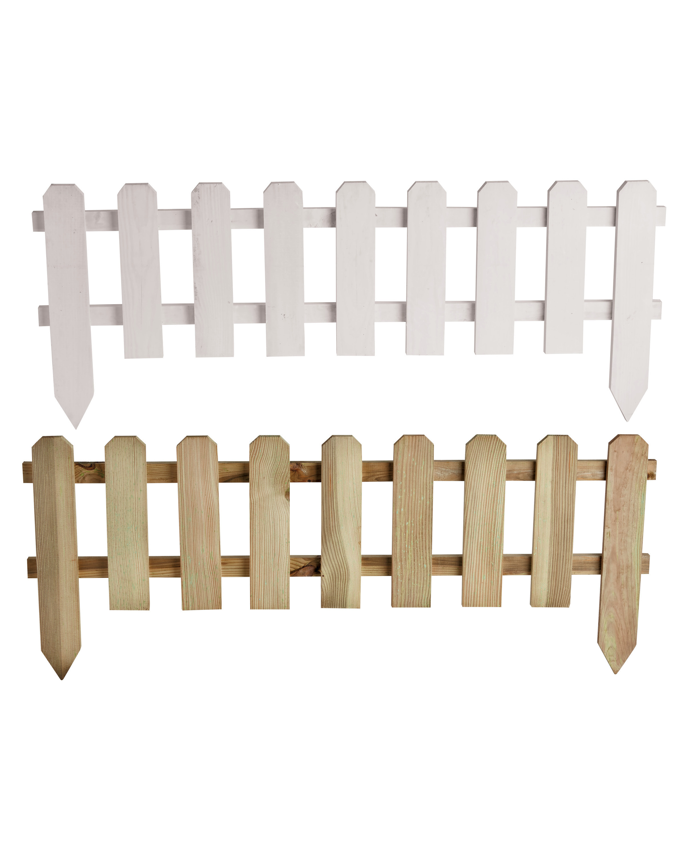 3 Pack Timber Picket Fence