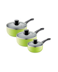 3-Piece Saucepan Set - Lime