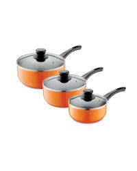 3-Piece Saucepan Set - Orange