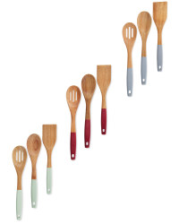 3 Piece Wooden Utensils