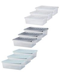 32L Underbed Storage Box 3 Pack