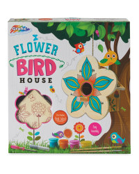 3D Wooden Flower Birdhouse