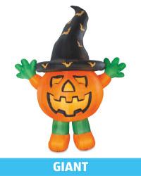 Giant Standing Inflatable Pumpkin