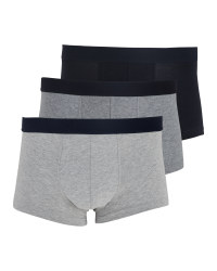 Avenue Grey & Black  Hipsters 3 Pack