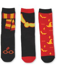 Harry Potter 3 Pack Red Socks
